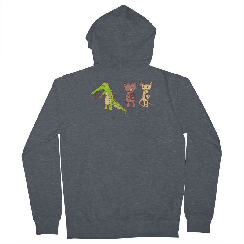A is for Jerks Men's French Terry Zip-Up Hoody by finkenstein's Artist Shop