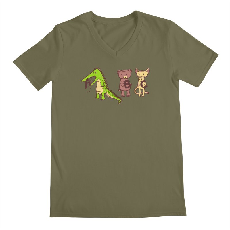 A is for Jerks Men's Regular V-Neck by finkenstein's Artist Shop