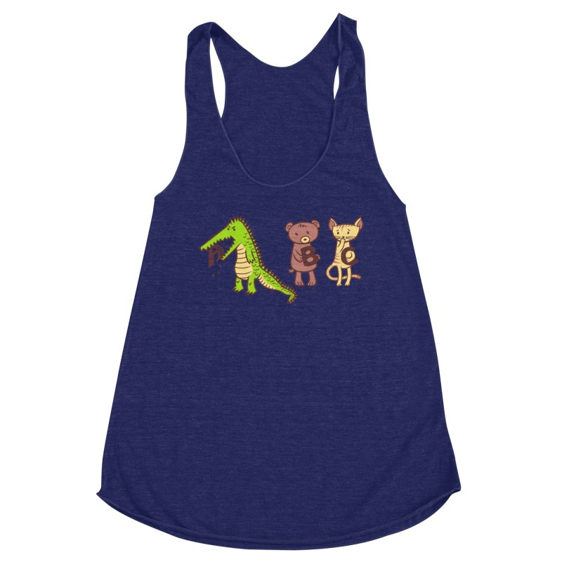 A is for Jerks Women's Racerback Triblend Tank by finkenstein's Artist Shop
