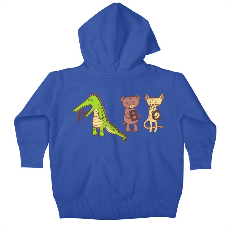 A is for Jerks Kids Baby Zip-Up Hoody by finkenstein's Artist Shop
