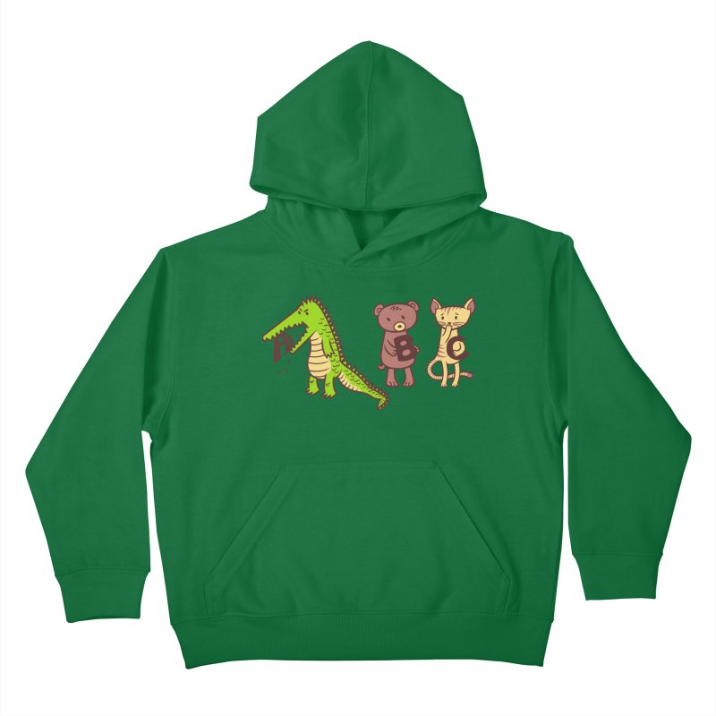A is for Jerks Kids Pullover Hoody by finkenstein's Artist Shop