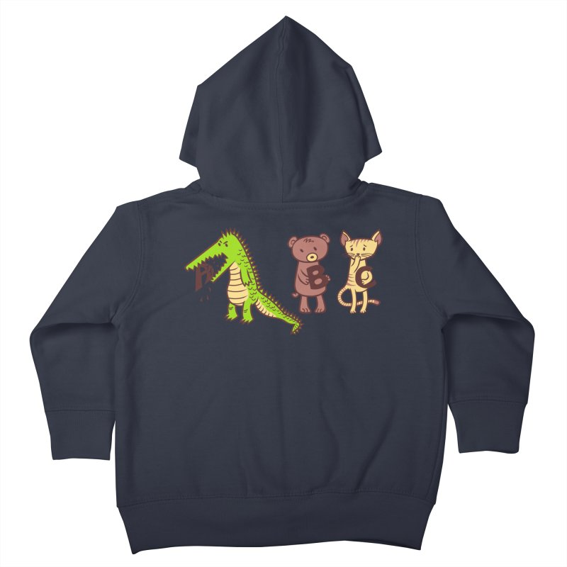 A is for Jerks Kids Toddler Zip-Up Hoody by finkenstein's Artist Shop