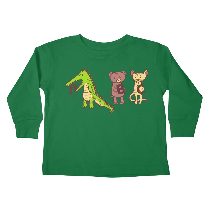 A is for Jerks Kids Toddler Longsleeve T-Shirt by finkenstein's Artist Shop