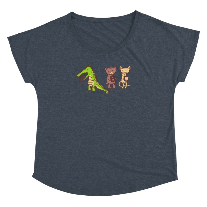 A is for Jerks Women's Dolman Scoop Neck by finkenstein's Artist Shop