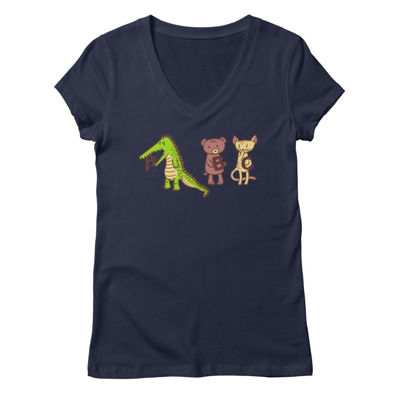 A is for Jerks Women's V-Neck by finkenstein's Artist Shop