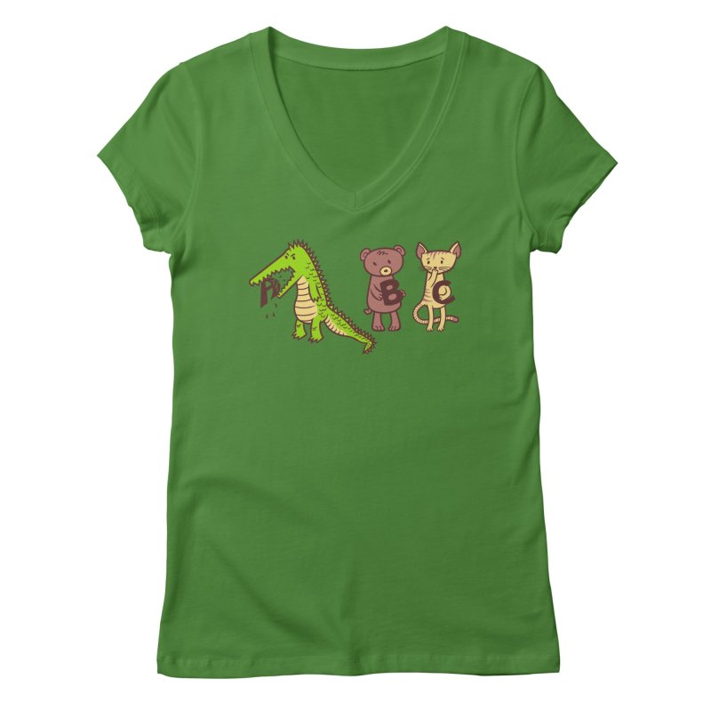 A is for Jerks Women's Regular V-Neck by finkenstein's Artist Shop