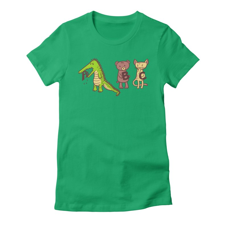 A is for Jerks Women's Fitted T-Shirt by finkenstein's Artist Shop