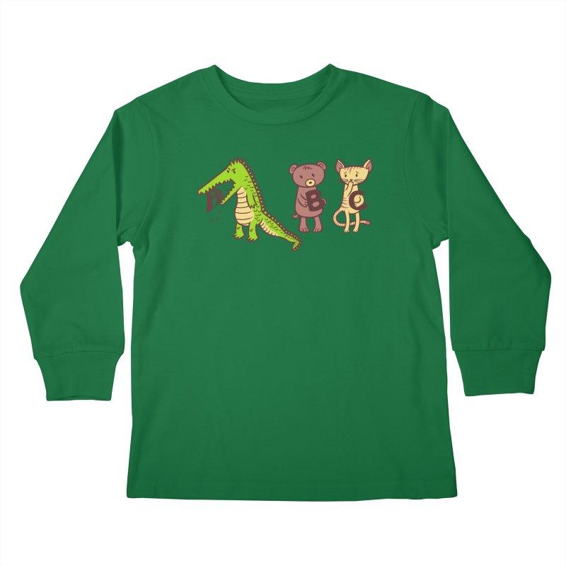 A is for Jerks Kids Longsleeve T-Shirt by finkenstein's Artist Shop