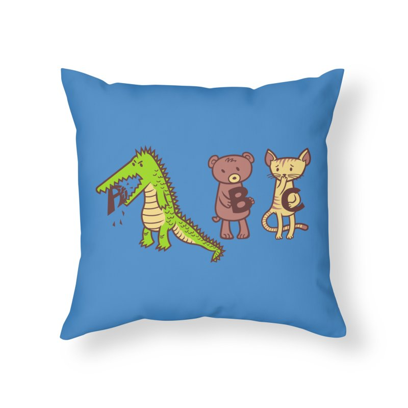 A is for Jerks Home Throw Pillow by finkenstein's Artist Shop