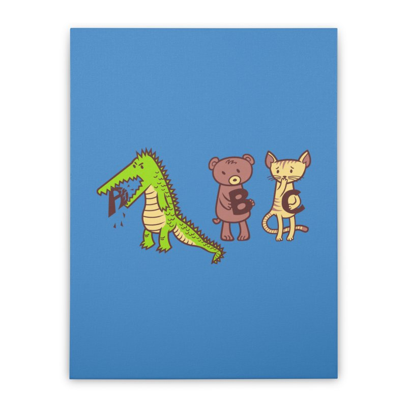 A is for Jerks Home Stretched Canvas by finkenstein's Artist Shop