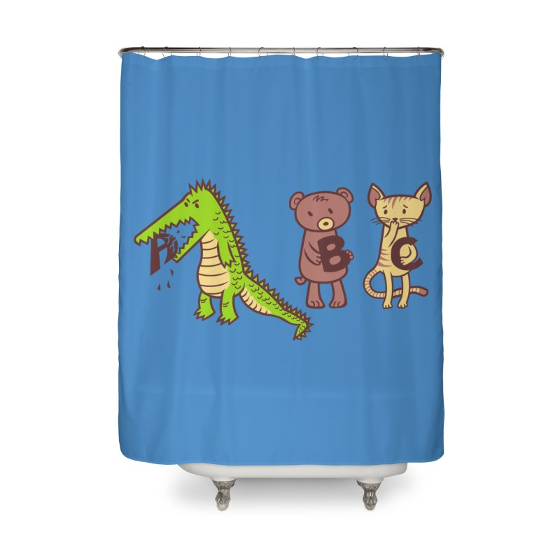 A is for Jerks Home Shower Curtain by finkenstein's Artist Shop