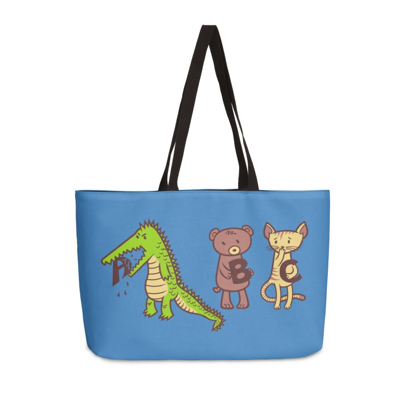 A is for Jerks Accessories Weekender Bag Bag by finkenstein's Artist Shop