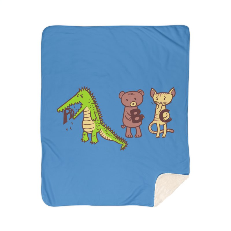 A is for Jerks Home Blanket by finkenstein's Artist Shop