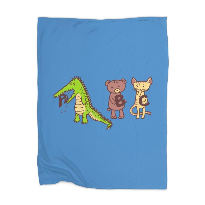 A is for Jerks Home Blanket by finkenstein's Artist Shop