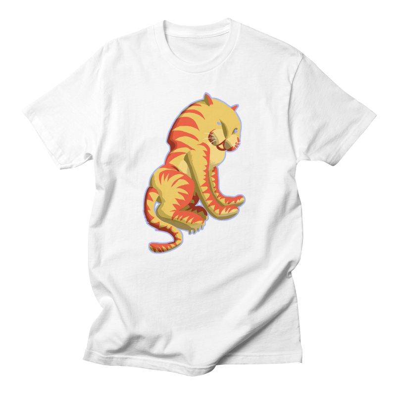Groovy Tiger Men's T-Shirt by fireawaymarmotproductions's Artist Shop