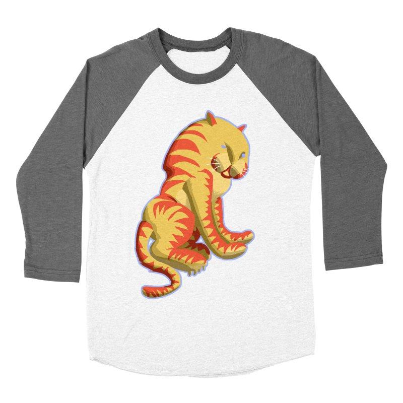 Groovy Tiger Women's Baseball Triblend T-Shirt by fireawaymarmotproductions's Artist Shop