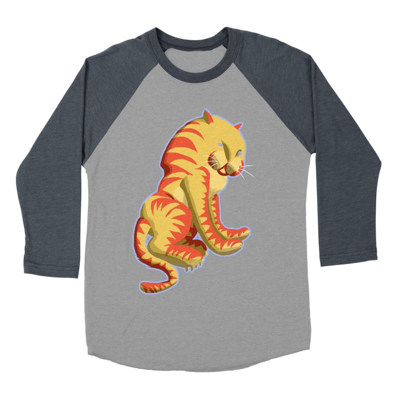 Groovy Tiger Women's Baseball Triblend T-Shirt by fireawaymarmotproductions's Artist Shop