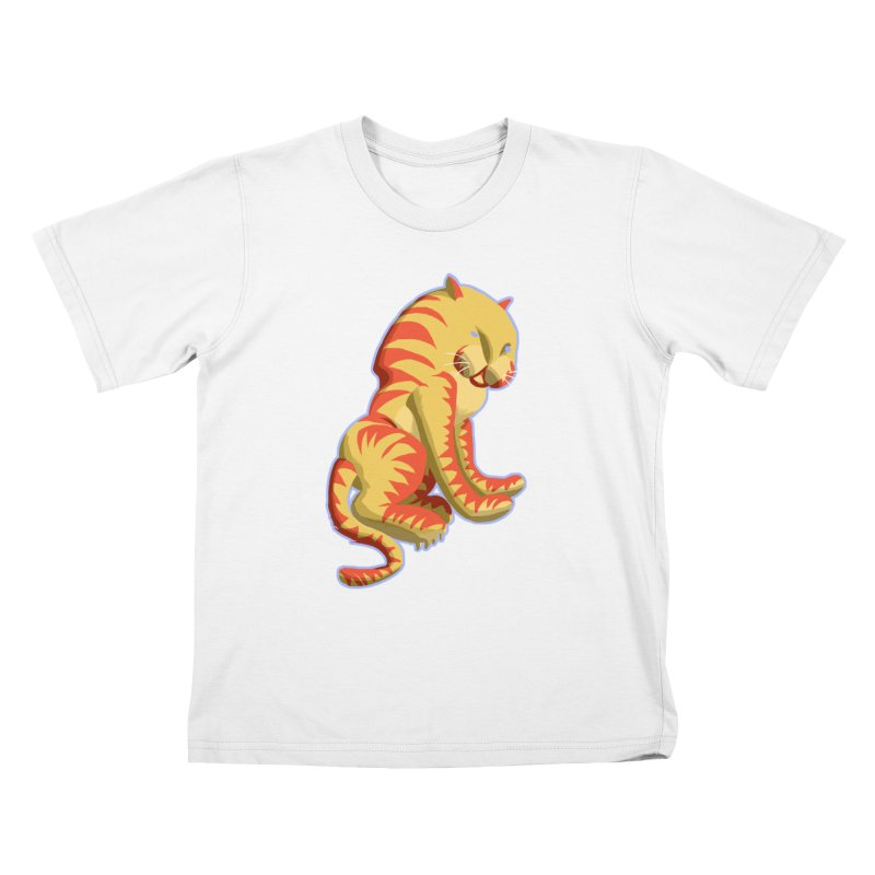 Groovy Tiger Kids T-Shirt by fireawaymarmotproductions's Artist Shop
