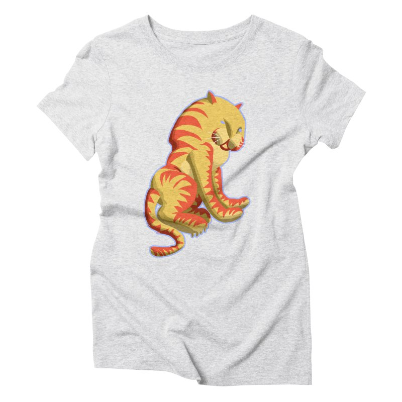 Groovy Tiger Women's Triblend T-Shirt by fireawaymarmotproductions's Artist Shop