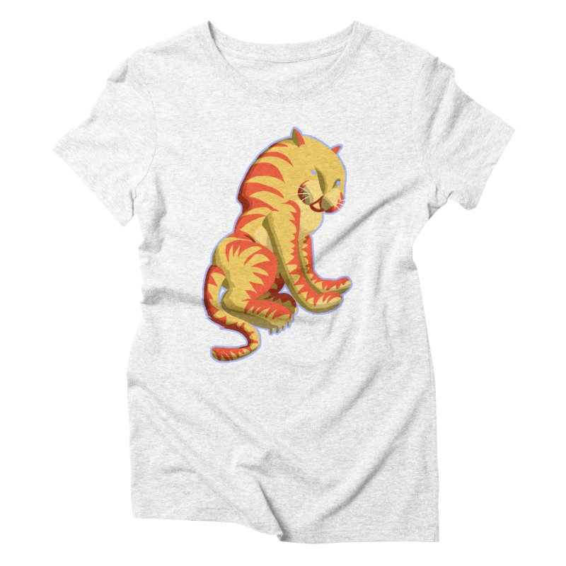 Groovy Tiger Women's Triblend T-shirt by fireawaymarmotproductions's Artist Shop