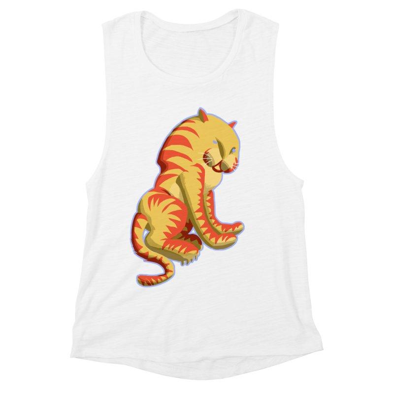 Groovy Tiger Women's Muscle Tank by fireawaymarmotproductions's Artist Shop