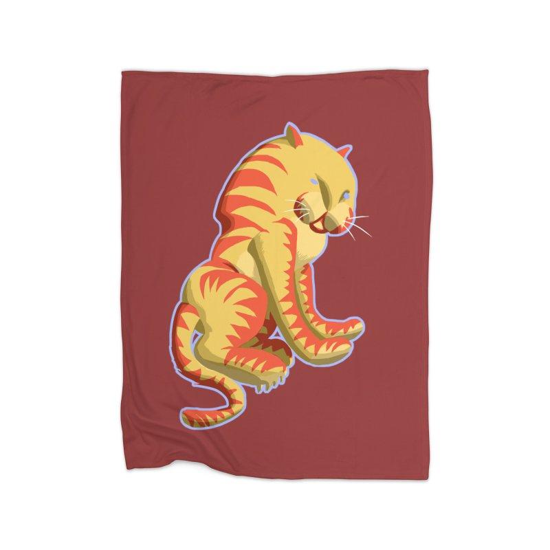 Groovy Tiger Home Blanket by fireawaymarmotproductions's Artist Shop