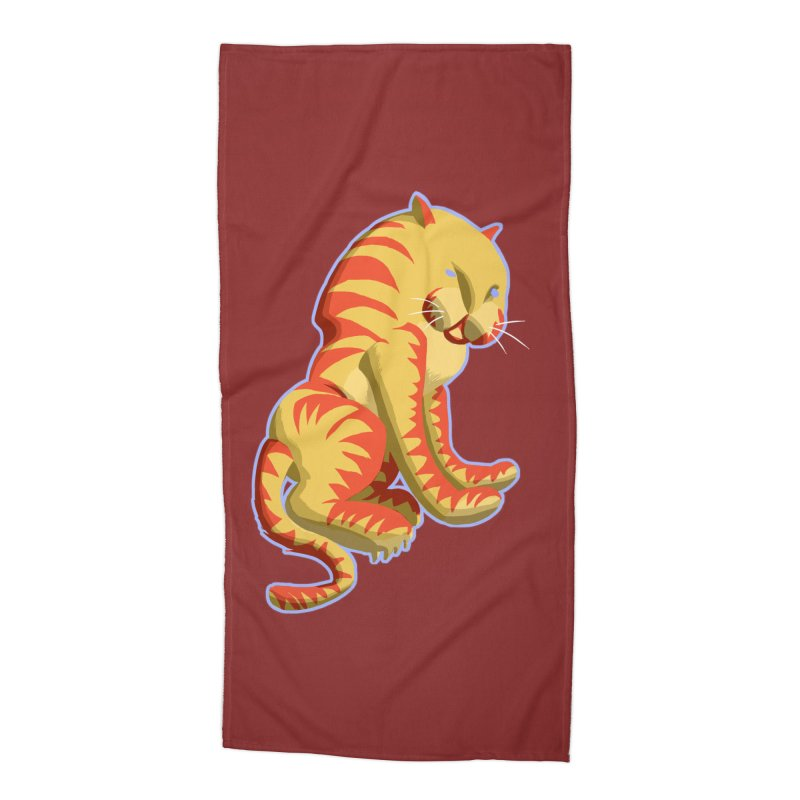 Groovy Tiger Accessories Beach Towel by fireawaymarmotproductions's Artist Shop