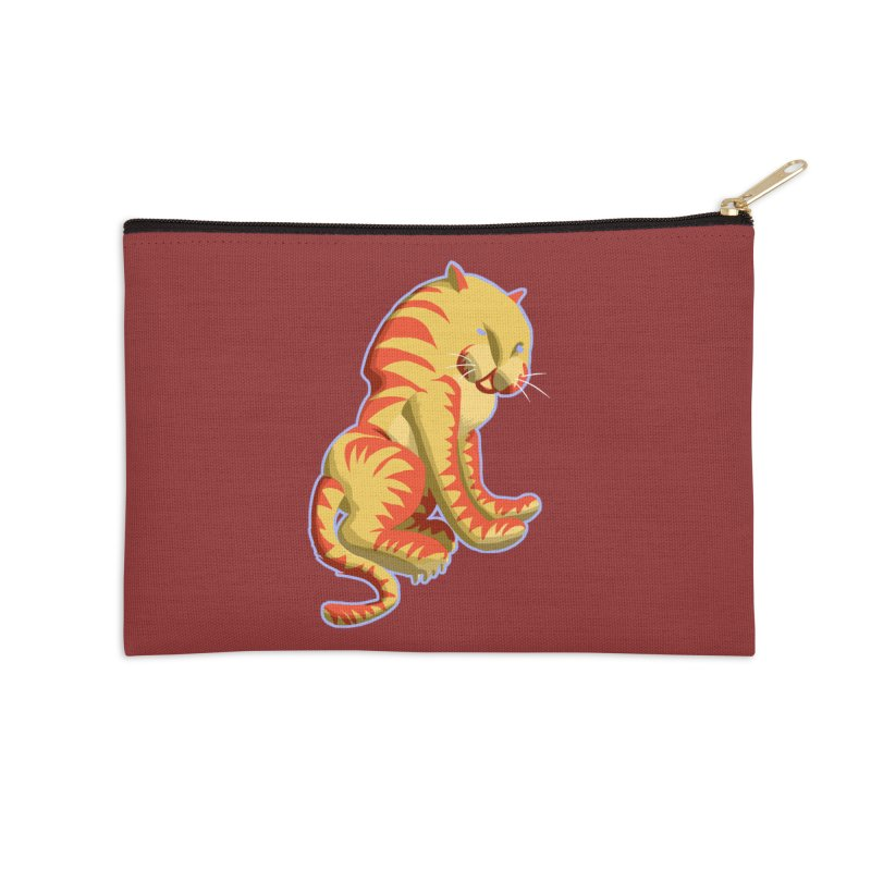 Groovy Tiger Accessories Zip Pouch by fireawaymarmotproductions's Artist Shop