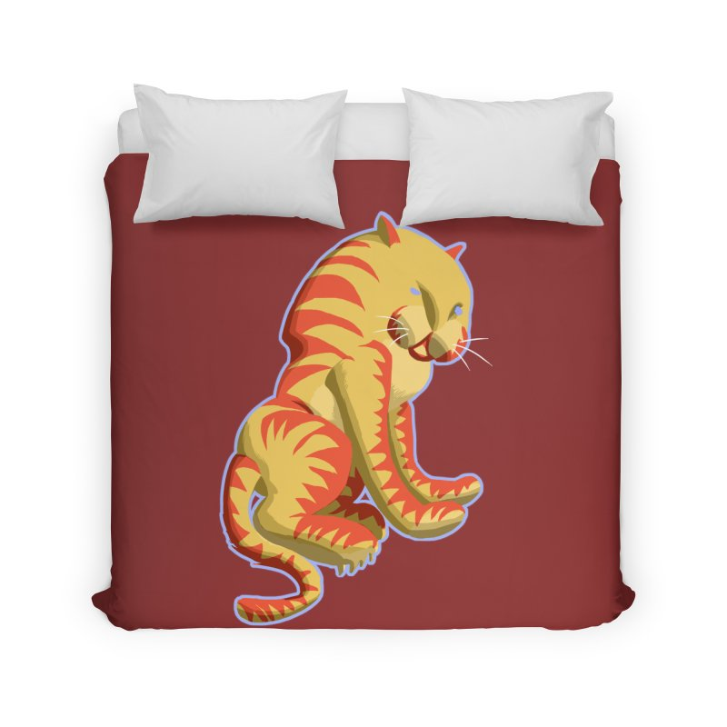 Groovy Tiger Home Duvet by fireawaymarmotproductions's Artist Shop