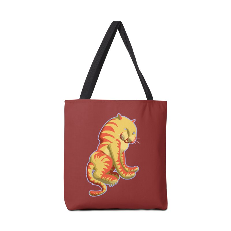 Groovy Tiger Accessories Bag by fireawaymarmotproductions's Artist Shop