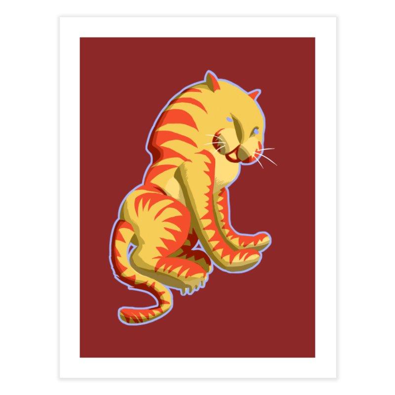 Groovy Tiger Home Fine Art Print by fireawaymarmotproductions's Artist Shop