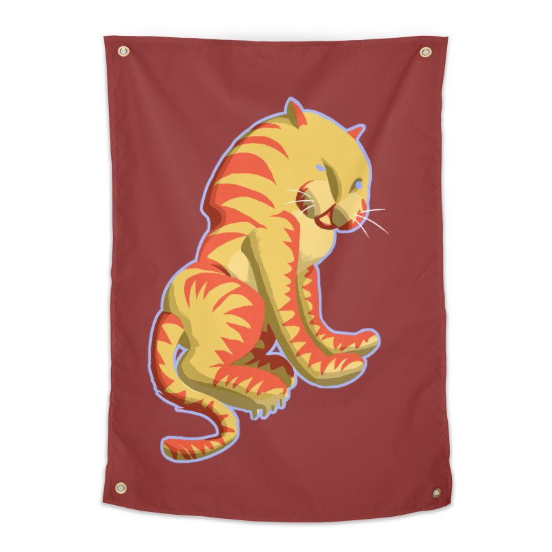 Groovy Tiger Home Tapestry by fireawaymarmotproductions's Artist Shop