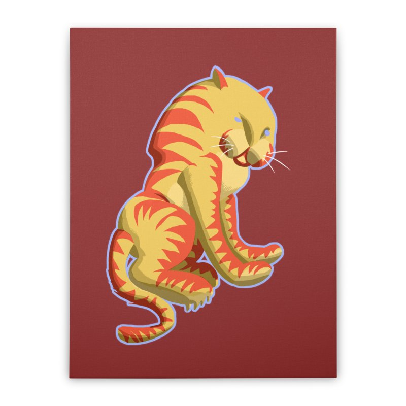 Groovy Tiger Home Stretched Canvas by fireawaymarmotproductions's Artist Shop