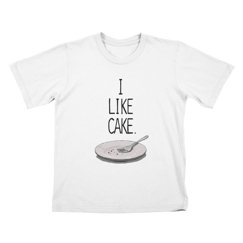 I LIKE CAKE Kids T-Shirt by fireawaymarmotproductions's Artist Shop