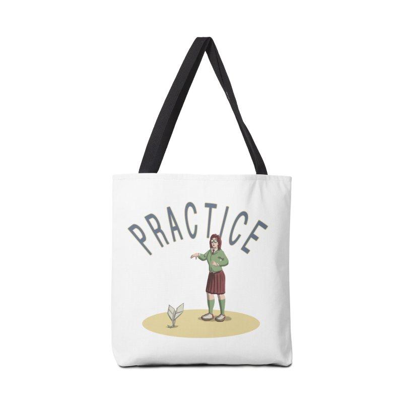 PRACTICE Accessories Tote Bag Bag by fireawaymarmotproductions's Artist Shop
