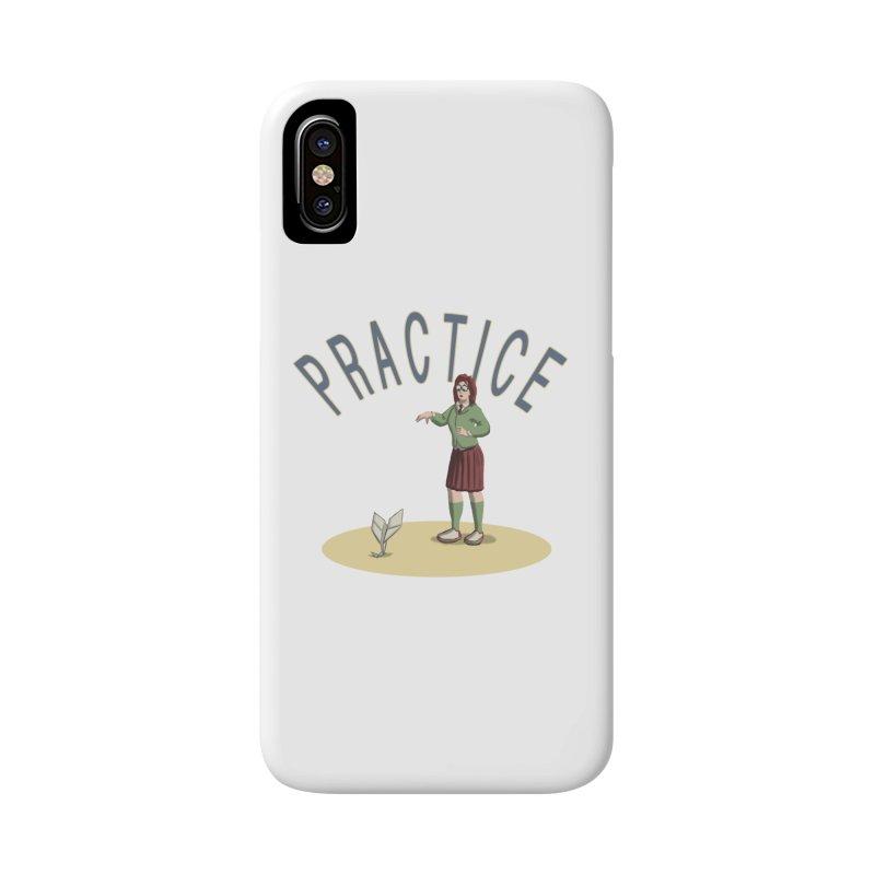 PRACTICE Accessories Phone Case by fireawaymarmotproductions's Artist Shop