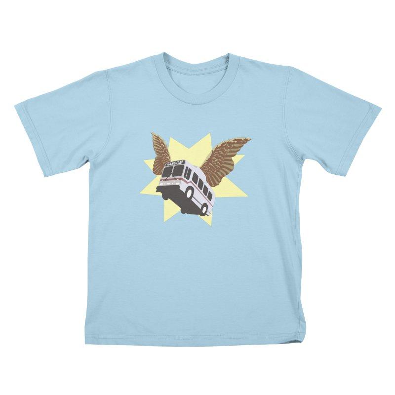 Flying Bus Kids T-shirt by fireawaymarmotproductions's Artist Shop