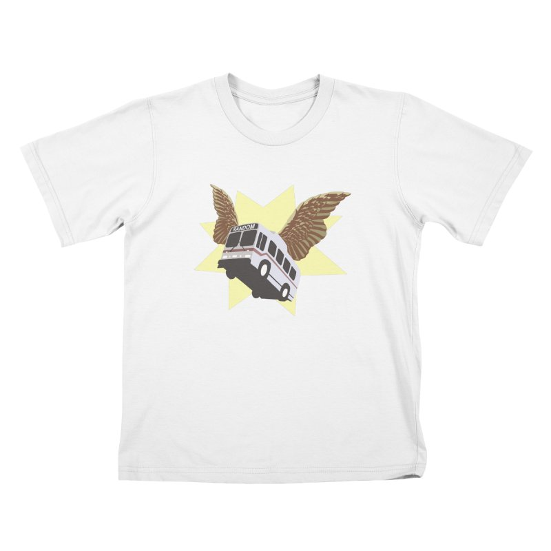 Flying Bus Kids T-Shirt by fireawaymarmotproductions's Artist Shop