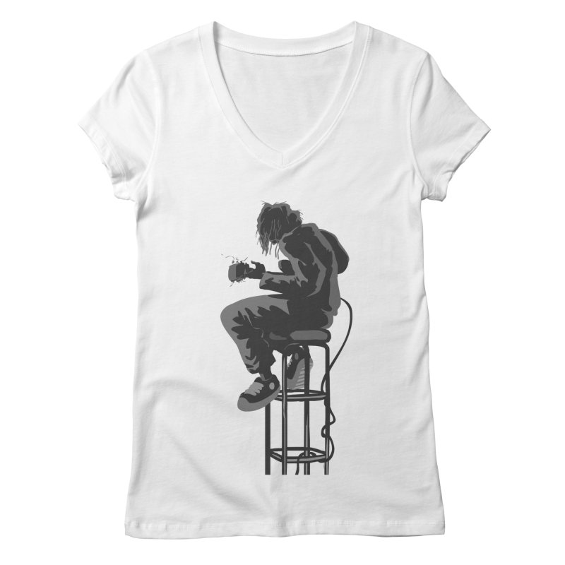Guitar Player Women's V-Neck by fireawaymarmotproductions's Artist Shop