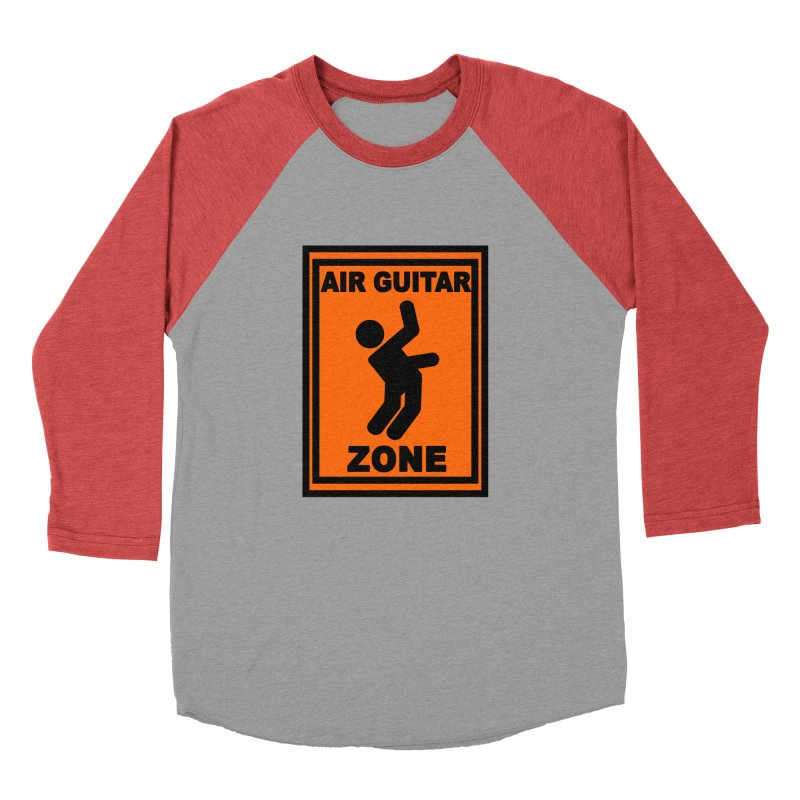 Air Guitar Women's Baseball Triblend T-Shirt by fireawaymarmotproductions's Artist Shop