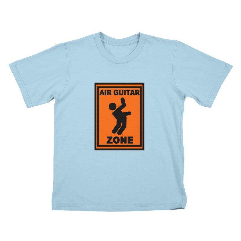 Air Guitar Kids T-Shirt by fireawaymarmotproductions's Artist Shop