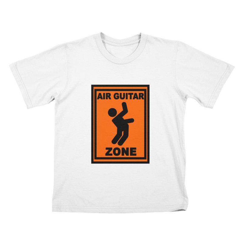 Air Guitar Kids T-Shirt by fireawaymarmotproductions's Artist Shop