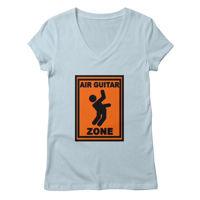 Air Guitar Women's V-Neck by fireawaymarmotproductions's Artist Shop