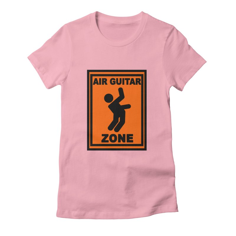 Air Guitar Women's Fitted T-Shirt by fireawaymarmotproductions's Artist Shop