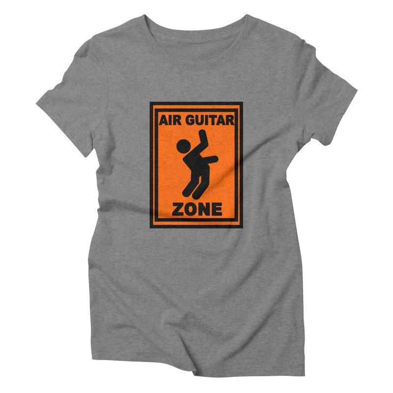 Air Guitar Women's Triblend T-shirt by fireawaymarmotproductions's Artist Shop