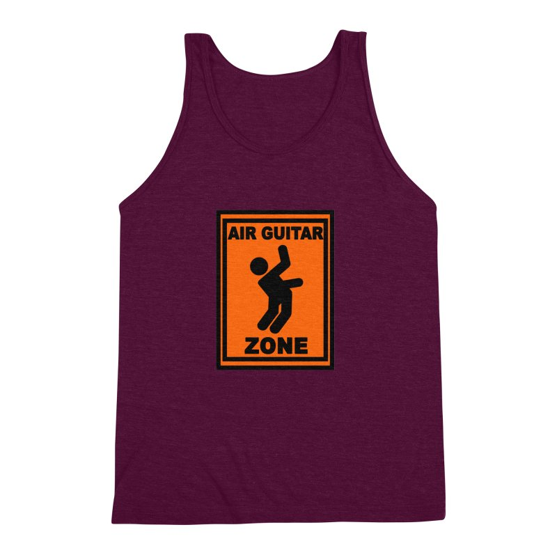 Air Guitar Men's Triblend Tank by fireawaymarmotproductions's Artist Shop
