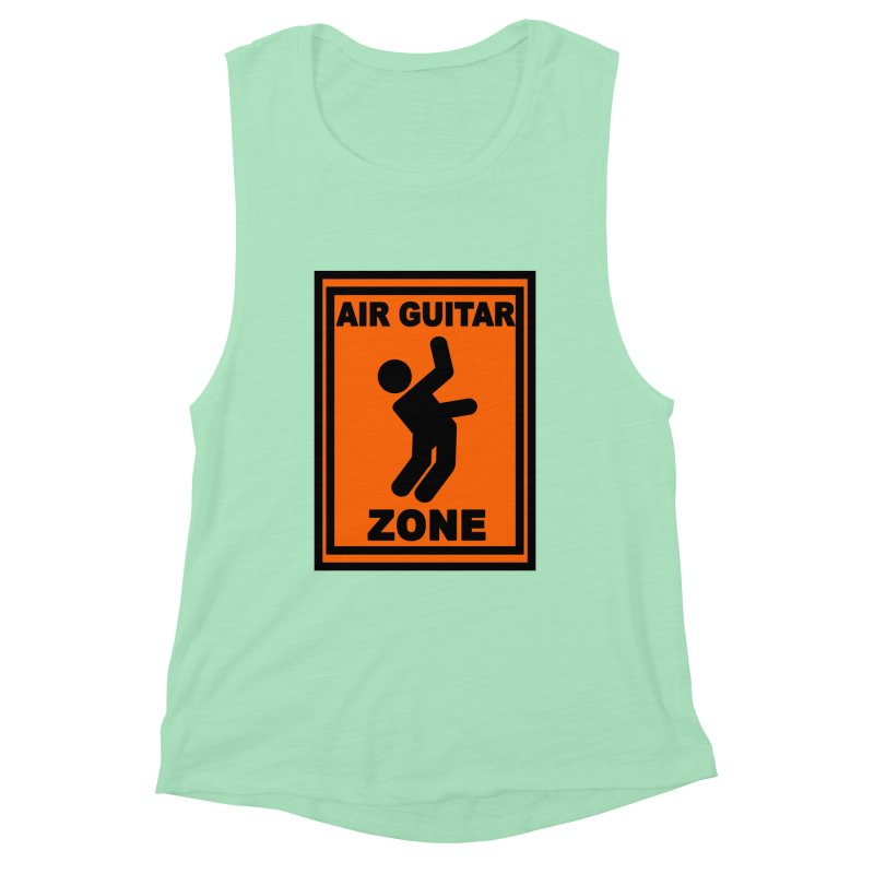 Air Guitar Women's Muscle Tank by fireawaymarmotproductions's Artist Shop