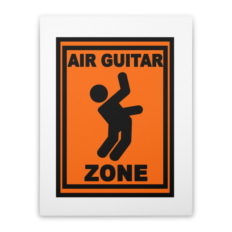 Air Guitar Home Stretched Canvas by fireawaymarmotproductions's Artist Shop