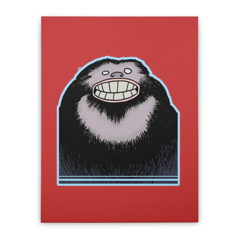 bigfoot Home Stretched Canvas by fireawaymarmotproductions's Artist Shop