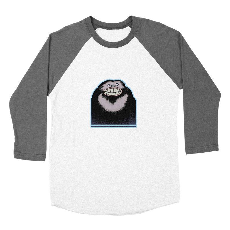 bigfoot Women's Baseball Triblend T-Shirt by fireawaymarmotproductions's Artist Shop